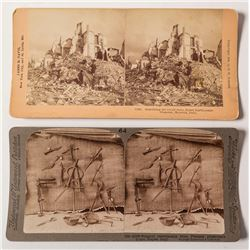 Two Stereoviews of Natural Disasters in Italy