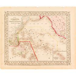 Map of Oceanica