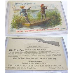 Daisy Air Rifle Advertising Trade Card