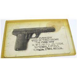 Chain Man  Dummy Revolver Postcard