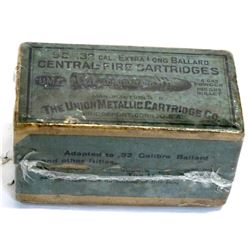 .32 Caliber extra long Ballard center-fire Cartridges