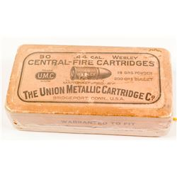 .44 cal. central-fire Webley Cartridges