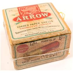Antique box of 12 gauge Arrow Ammunition