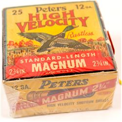 Box of Peters High Velocity 12 gauge Shotgun Shells