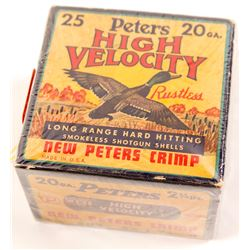Box of Peters High Velocity 20 gauge Shotgun Shells