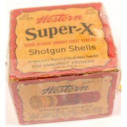 Box of Western Super X 20 gauge Shotgun Shells