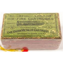 Union Metallic Cartridge .32 cal. Extra Long Rim-fire Cartridges