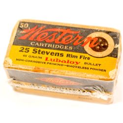 Western Cartridge Co. .25 cal. Steven rim-fire