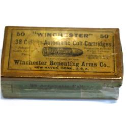 .38 caliber Winchester Automatic Colt Cartridges