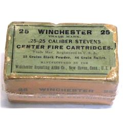 Winchester .25-25 Stevens center-fire cartridges