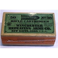 Winchester .38 Caliber Long rifle Cartridges