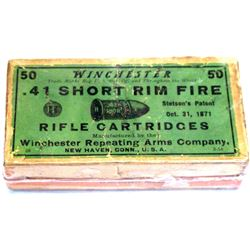 .41 Short Rim-fire Winchester Cartridges