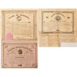 2 Different Civil War Bonds