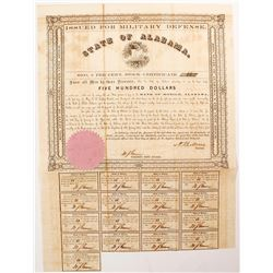 Alabama Civil War Bond, Act of 1861