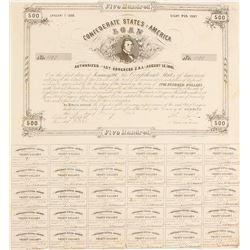 Confederate Bond, $500 1861