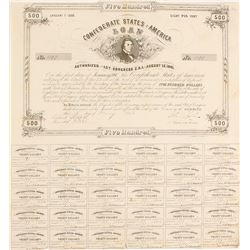 Confederate Bond, $500 1861