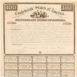 Confederate Bond, $100, Act of 1863
