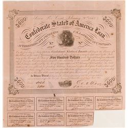 Confederate $500 Bond, Act of 1863