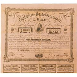 Confederate War Bond, Act of 1863