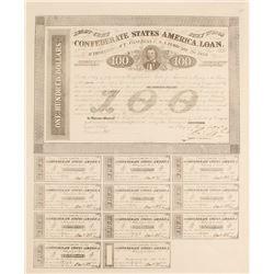 Confederate $100 Bond, Act of 1863