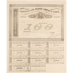 Confederate $100 Bond, Act of 1863