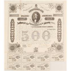 Confederate $500 Bond, Act of 1863