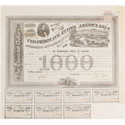 Confederate States of America Loan $1,000, Act of 1863