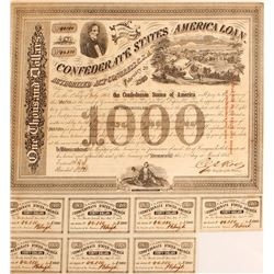 Confederate States America Loan Bond 1863