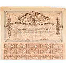 Confederate Bond, $1000, Act of 1863