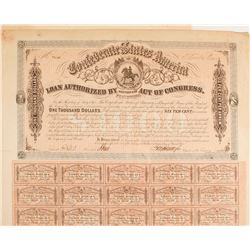 Confederate Bond, $1000, Act of 1863