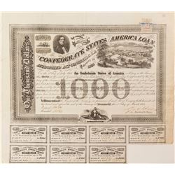 Confederate States Bond, Act of 1863
