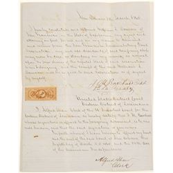 1864 New Orleans Civil War Soldier Letter Re: San Francisco Company
