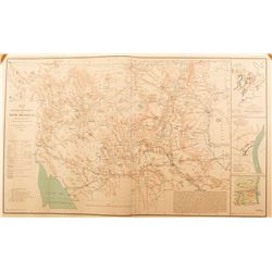 Civil War Map of the Military Dept. of New Mexico, 1864