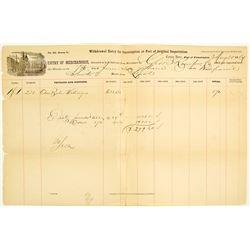 Civil War Customs House Document, 1864