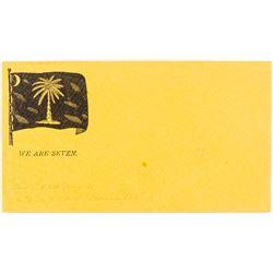 """""""We Are Seven"""" South Carolina Confederate Flag Envelope"""