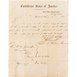 Civil War Confederate Letterhead