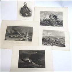 Civil War Engraving Prints Group
