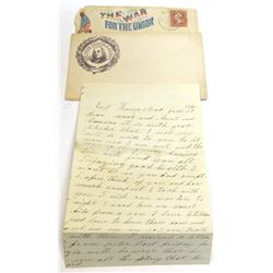 Civil War Letter with Patriotic  Cover