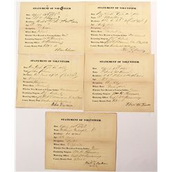 Civil War Union Statement of Volunteers (5)
