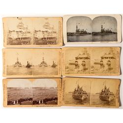 Battleship USS Oregon Stereoview Collection