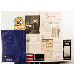 """Military Collection: Books, ID Cards, V-Mail, prints, """"Citation for the Bronze Star"""", and a Great Sp"""