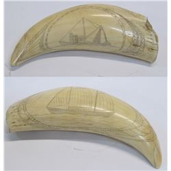 Antique Scrimshaw Whale Tooth