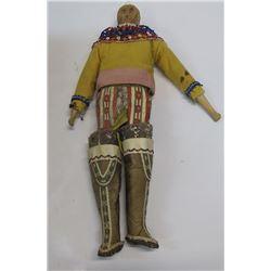 Antique Inuit Wood Doll
