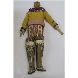 Antique Inuit Wood Doll