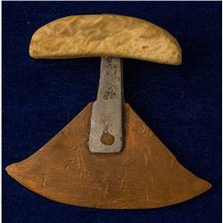 Hand Hammered Copper Ulu Knife