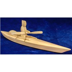 Ivory Kayak with Seal