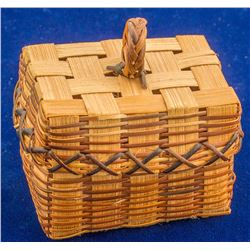 Small Rectangular Native Alaskan Basket