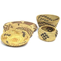 Group of Vintage  Papago Baskets