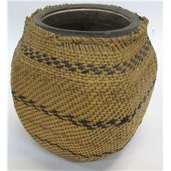 Paiute Basket Wrapped Jar