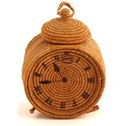 """Vintage Woven Alarm """"Clock"""""""
